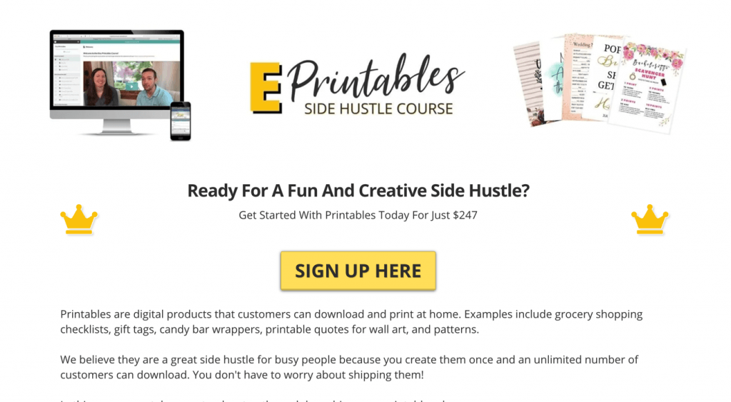 E-Printables course Coupon Code > $50 Off Promo Deal