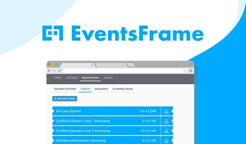EventsFrame Coupon Code 2020 > Lifetime Access 92% Off Promo Deal